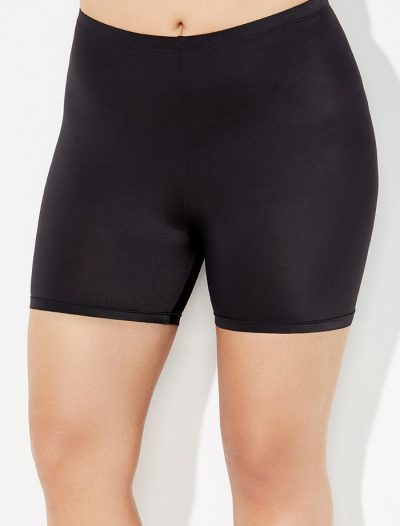 Plus Size Aquabelle Black Bike Short