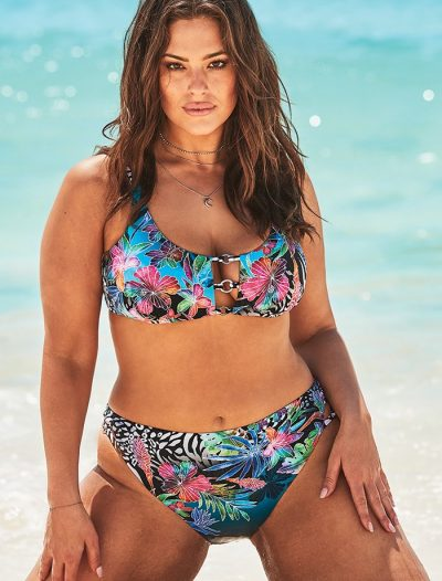 Plus Size Ashley Graham x Swimsuits For All Artiste High Waist Bikini