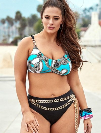 Plus Size Ashley Graham x Swimsuits For All Bijou Underwire High Waist Bikini