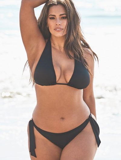 Plus Size Ashley Graham x Swimsuits For All Elite Black Triangle Bikini