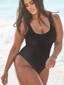 Plus Size Ashley Graham x Swimsuits For All Hotshot Black One Piece Swimsuit