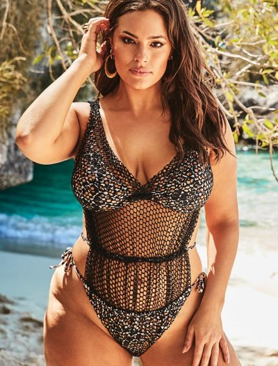 Plus Size Ashley Graham x Swimsuits For All Phenom Triangle Monokini