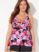 Plus Size Baybreeze Flowy Tankini with Banded Short