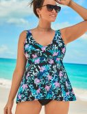 Plus Size Beachfront Flowy Tankini Set