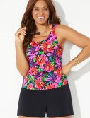Plus Size Begonia Classic Tankini with Loose Short