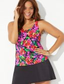Plus Size Begonia Classic Tankini with Skirt