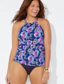 Plus Size Blossom High Neck Tankini