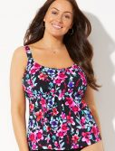 Plus Size Bonita Flared Tankini Top