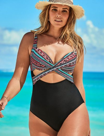 Plus Size Brisbane Cut Out Underwire One Piece Swimsuit