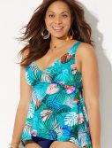 Plus Size Cairns Flowy Tankini Top