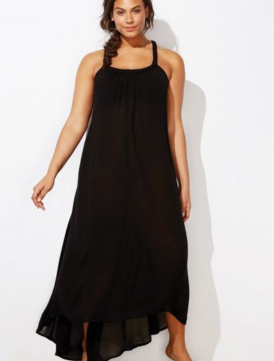 Plus Size Candace Black High Low Maxi Dress