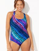 Plus Size Chlorine Resistant Freestyle X-Back One Piece Swimsuit