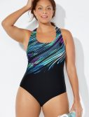 Plus Size Chlorine Resistant Lycra Xtra Life Comet X-Back One Piece Swimsuit