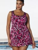 Plus Size Chlorine Resistant Pool Party Tank Swimdress