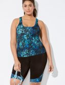 Plus Size Chlorine Resistant Swell Sport Tankini with Bike Short