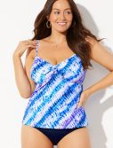 Plus Size Cloudbreak Tie Front Underwire Tankini Set