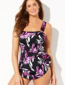 Plus Size Cosmo Side Tie Sarong One Piece Swimsuit
