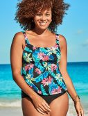 Plus Size Daintree Flared Tankini Set