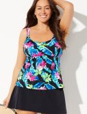 Plus Size Daintree Flared Tankini with Skirt