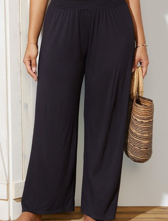 Plus Size Dena Black Beach Pant