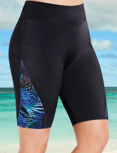 Plus Size Disco Long Bike Short