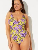 Plus Size GabiFresh x Swimsuits For All Beachfront V-Neck One Piece Swimsuit