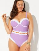 Plus Size GabiFresh x Swimsuits For All Girlfriend Belted Underwire One Piece Swimsuit