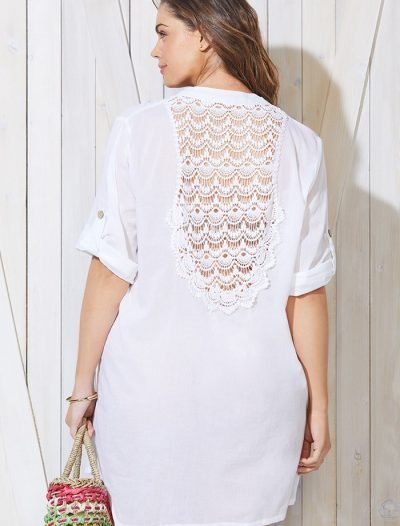 Plus Size Gemma White Shirt