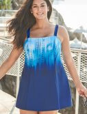 Plus Size Glacier Princess Seam Swimdress