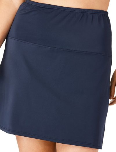 Plus Size High Waisted Swim Skirt With Built-In Brief