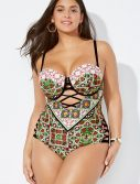 Plus Size Ibiza Cut Out Underwire One Piece Swimsuit