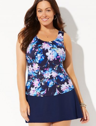 Plus Size Islander Classic Tankini with Skirt