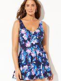 Plus Size Islander V-Neck Swimdress