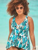 Plus Size Juniper Flowy Tankini Top
