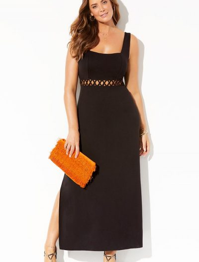 Plus Size Kimber Square Neck Maxi Dress