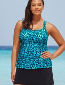 Plus Size La Quinta Flared Tankini with Skirt