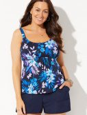 Plus Size Lagoon Flared Tankini with Cargo Short
