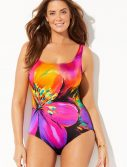 Plus Size Longitude Fiesta Tank One Piece Swimsuit