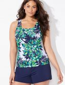Plus Size Lulav Classic Tankini with Navy Loose Short
