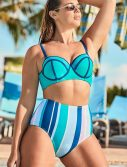 Plus Size Madame Waterfall High Waist Underwire Bikini