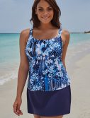 Plus Size Magnolia Flared Tankini with Skirt
