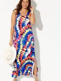 Plus Size Mandy Tie Dye Maxi Dress
