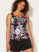 Plus Size Mobius Classic Tankini with Loose Short