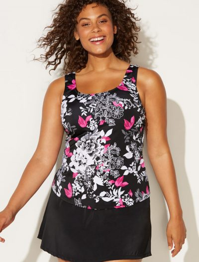 Plus Size Mobius Classic Tankini with Skirt