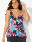 Plus Size Molokai Flowy Tankini with Banded Short