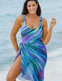 Plus Size Mystic Swimsuit with Sarong