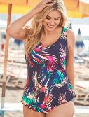 Plus Size Pisa Sarong Front One Piece Swimsuit