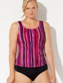 Plus Size Powerlines Classic Tankini Set