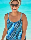 Plus Size Queensland Lightweight Blouson Tankini Top