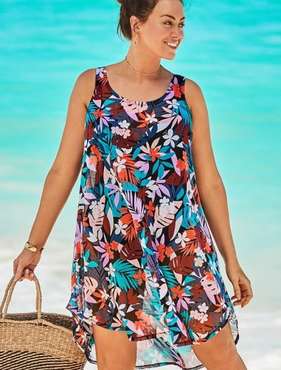 Plus Size Quincy Dockside Sheer High Low Tunic